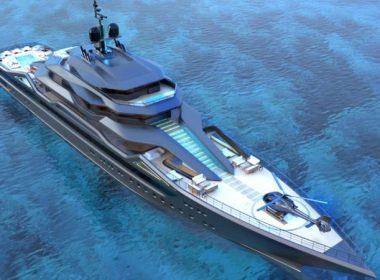 Concept superyacht de 101 metros, Mauna Kea.
