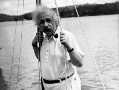 Albert Einstein y la vela