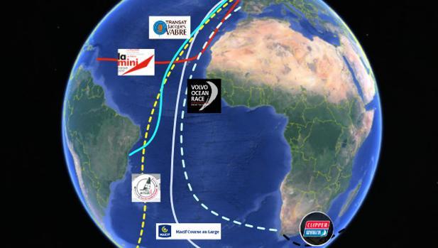Toda la vela oceánica en el Atlántico