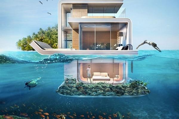 Villas flotantes de Dubai