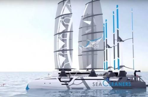 Manta, el barco que limpiará de plástico los océanos