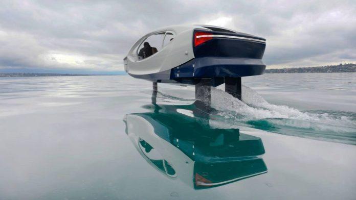SeaBubble, el vehiculo que vuela sobre el agua