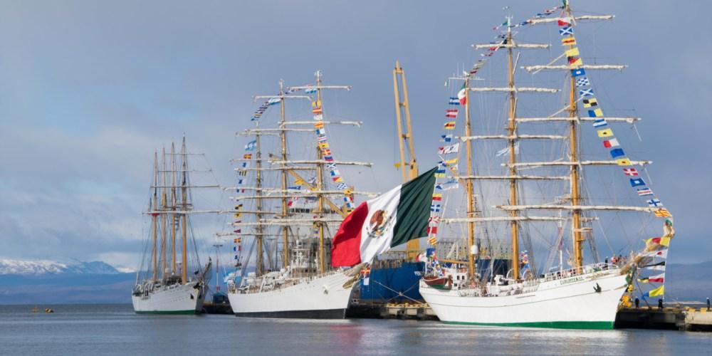 Cinco de los grandes veleros ya amarraron en Ushuaia