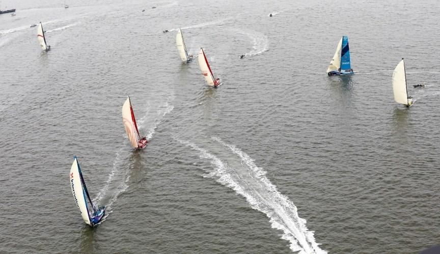 Volvo Ocean Race . Comienzo de la Etapa 10