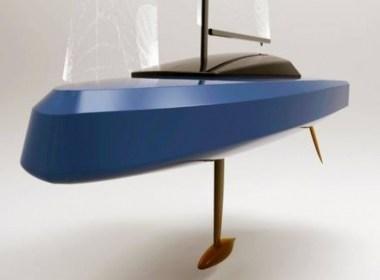 Barco impreso en 3D compite en una regata