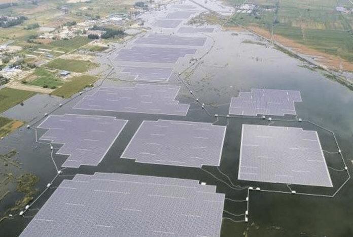 Proyecto solar fotovoltaico flotante