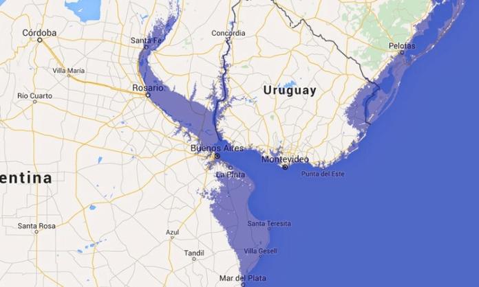 Argentina perdería 100 metros de playa