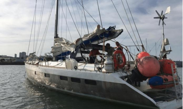 Velero francés en Mar del Plata