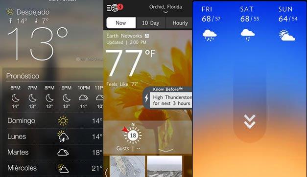 Apps de clima para navegar