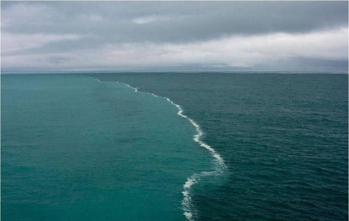 Aguas océanos Pacífico y Atlántico