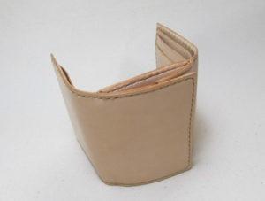 三つ折り財布コンパクトヌメ革 180923