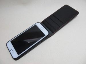 iPhone6s上開きケース