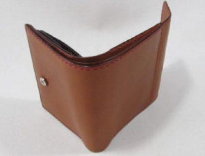 フラップ付き二つ折り財布12cm幅181210