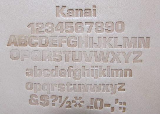 ユーロスタイルボールド刻印7.5mm