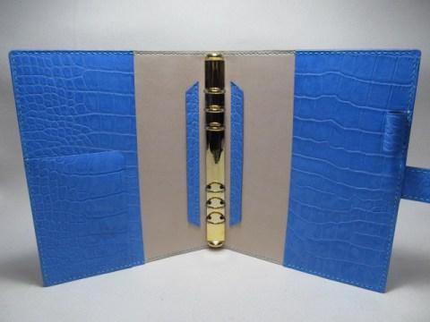 システム手帳A5型押しクロコ190405