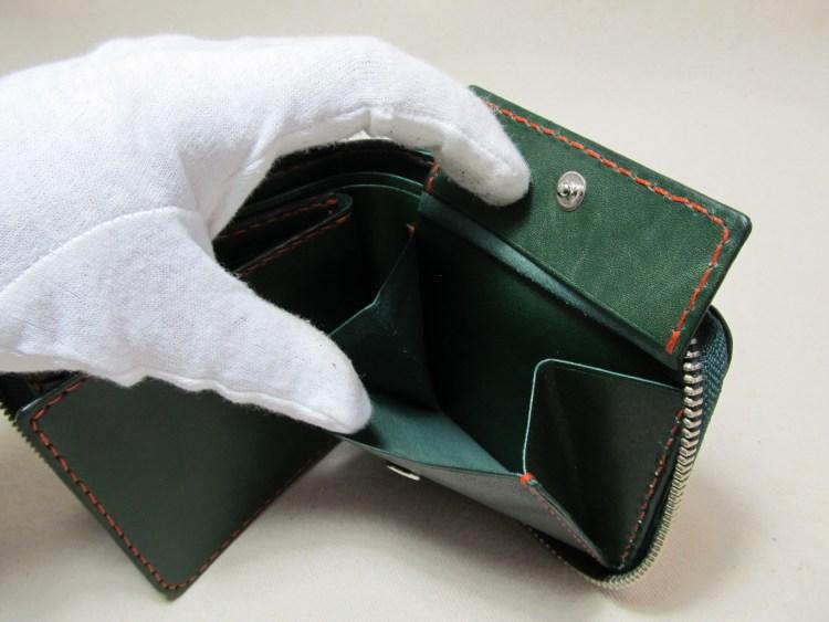 ラウンドファスナー二つ折り財布191005