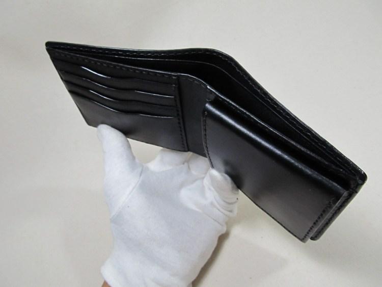 二つ折り財布ボックスコイン下開き191011