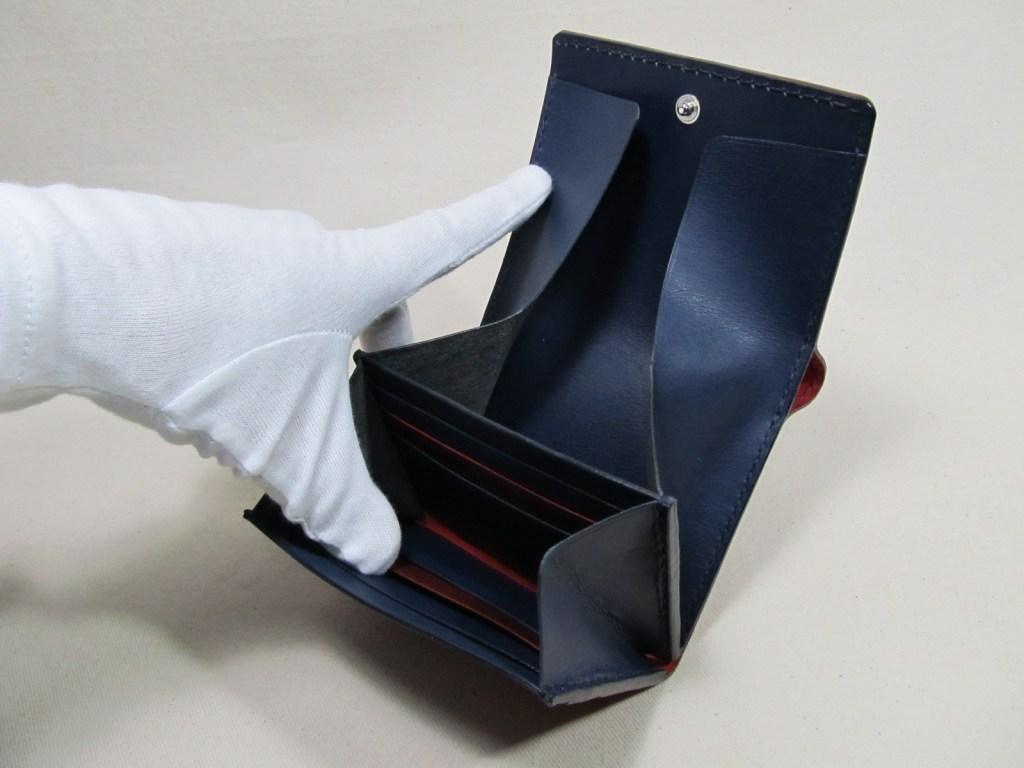 ◆コードバンレッド折り財布オーダー191212 6