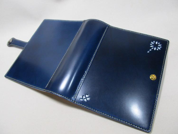 ゴールドシステム手帳A5サイズコードバンブルーネイビー200109