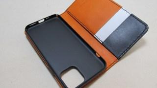 iPhone11PRO手帳型横開きケース210406革