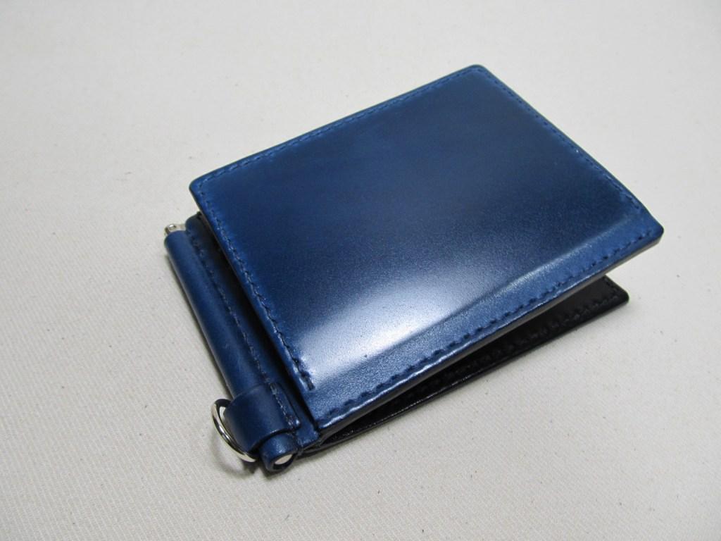 コードバン青紺マネークリップ210610