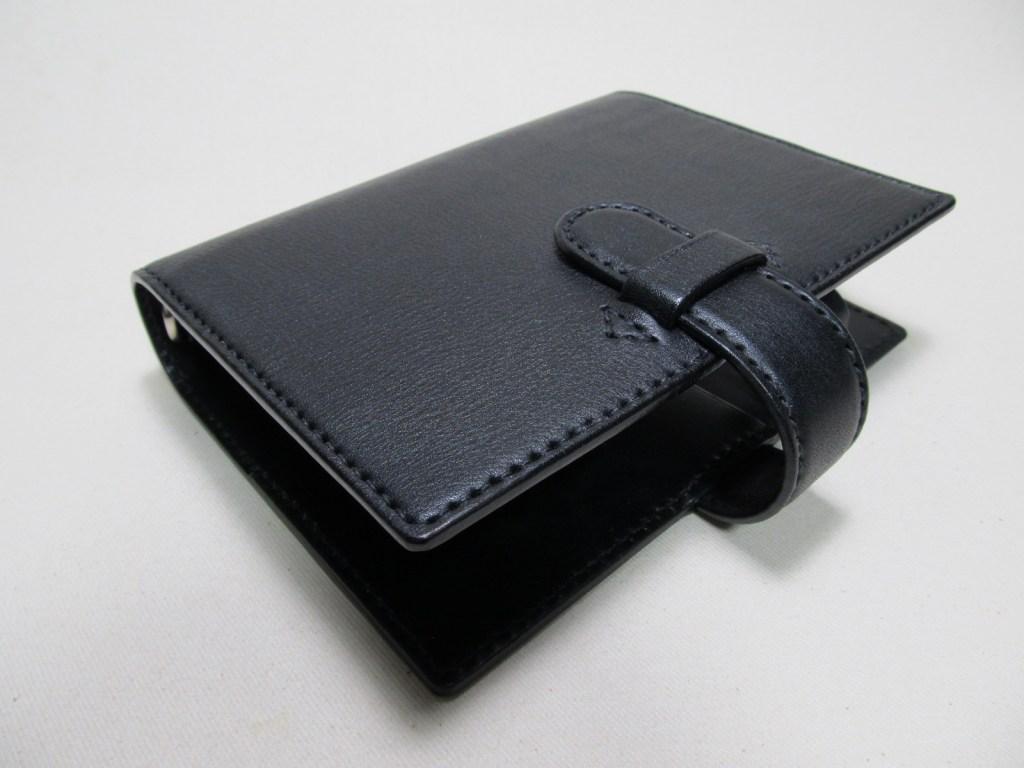 システム手帳バイブル30㎜シボ黒革210922革製品