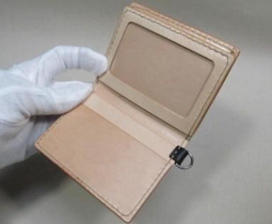 特注横型二つ折りカード入れスイカ入れヌメ革
