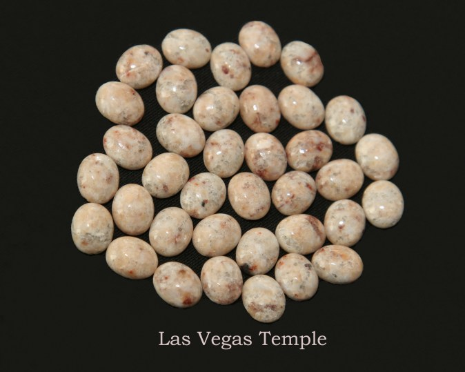 Temple stones from the LDS Las Vegas Temple by Nauvoo Remembered jewelry