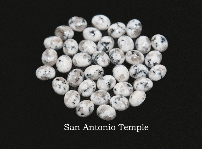 Temple stones from the LDS San Antonio Temple by Nauvoo Remembered jewelry