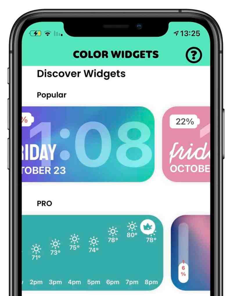 עיצוב מסך הבית ios 14 ווידג׳ט