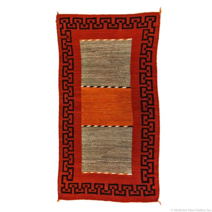 Navajo Double Saddle Blanket c 1910