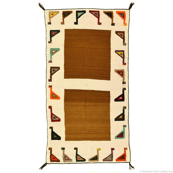 Navajo Double Saddle Blanket with Stirrup Pictorials