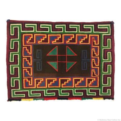 Navajo Germantown Single Saddle Blanket