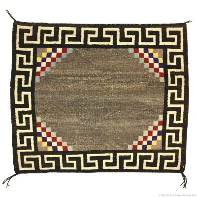 Navajo Single Saddle Blanket 1910