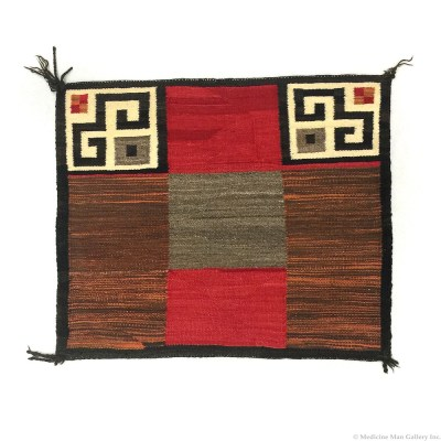 Navajo Single Saddle Blanket c. 1910 NY