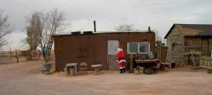 Navajo Santa in front of home