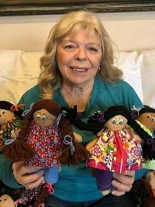 Xmas Yarn Dolls