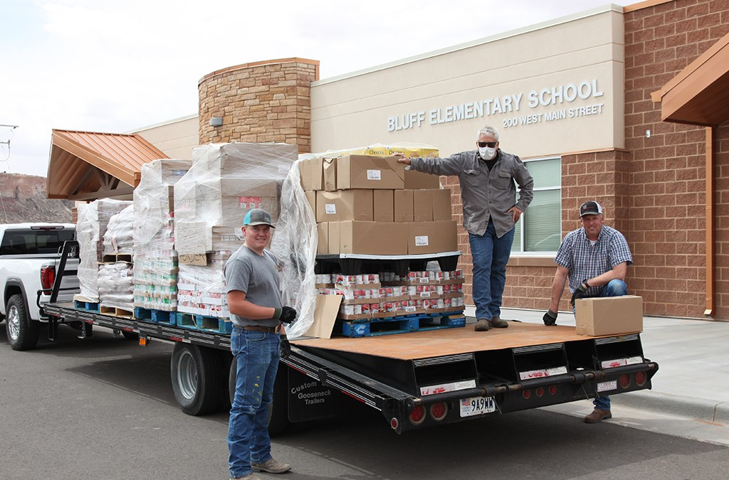 Food Deliveries to Aneth Community School and Bluff Elementary