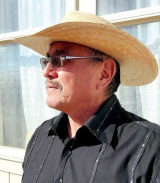 portrait in cowboy hat