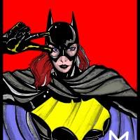 Art Decor Experiment: Bat-Girl