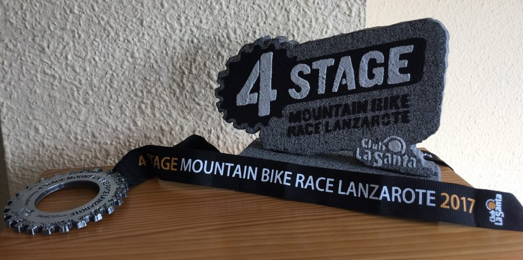 Premio a Toni Franco 4 Stage Mountain Bike Race Lanzarote