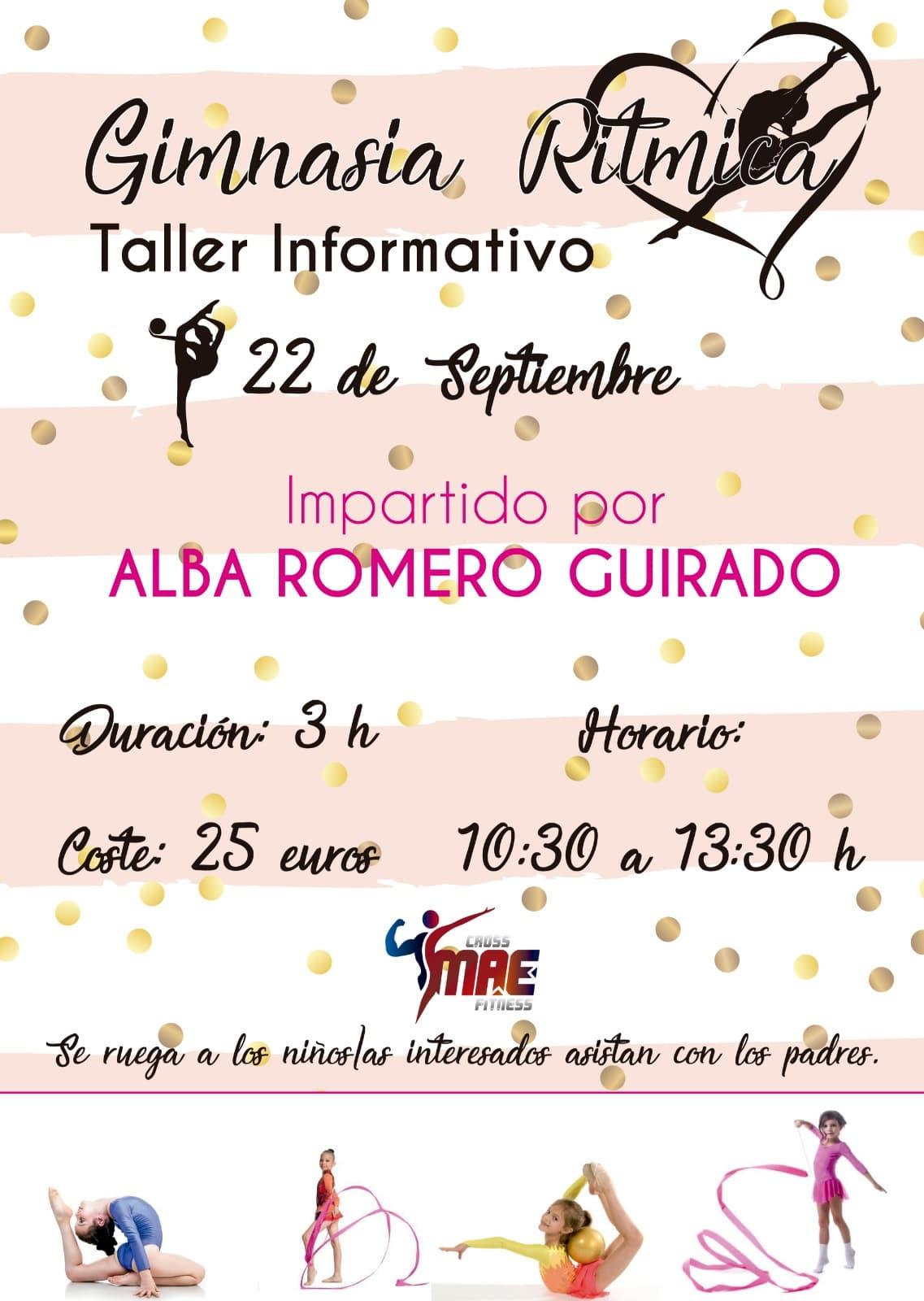 Taller Informativo de Gimnasia Rítmica impartido por Alba Romero en el Cross MAE Fitness