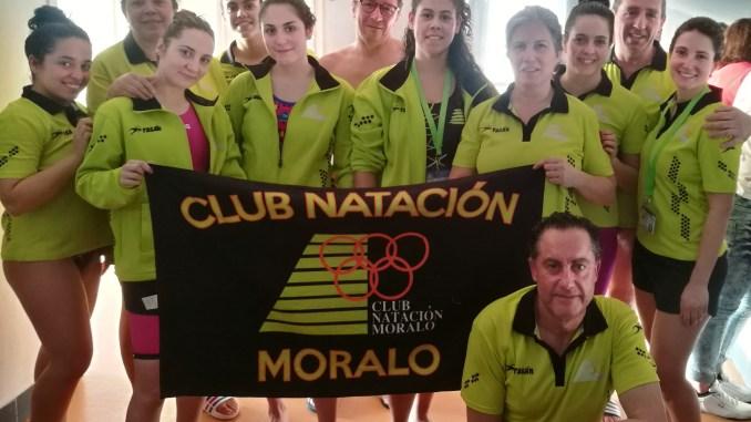 Segunda jornada de la cuarta liga open máster y Alberto Martín con la Selección Extremeña de Natación