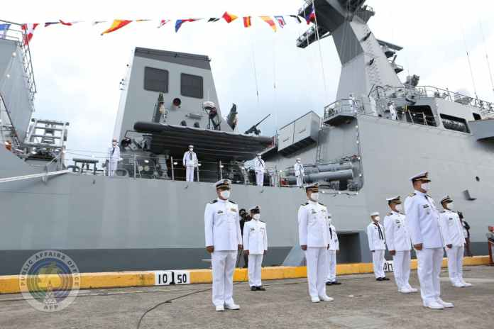 Commissioning ceremony of BRP Jose Rizal