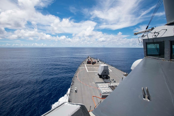 USS Ralph Johnson conducts freedom of navigation ops