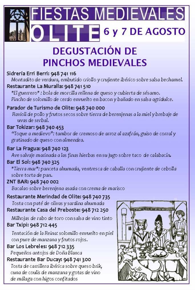CONCURSO PINCHOS MEDIEVALES 2016