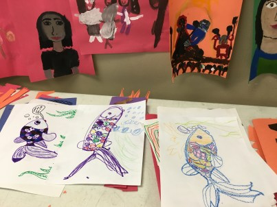 Summer Camp Fun Drawing Fishes and Self Portraits