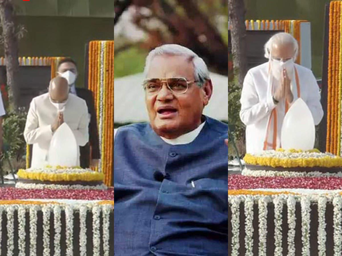 Atal Bihari Vajpayee: Today, the third death anniversary of Atal Bihari Vajpayee, President Kovind and Prime Minister Modi