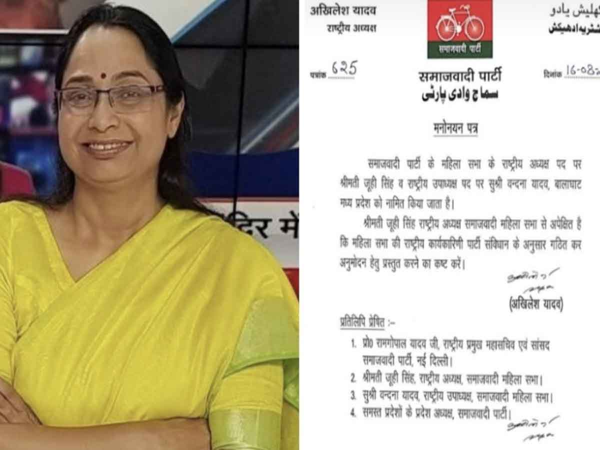 UP: Announcement of SP Mahila Sabha office bearers, Juhi Singh becomes National President