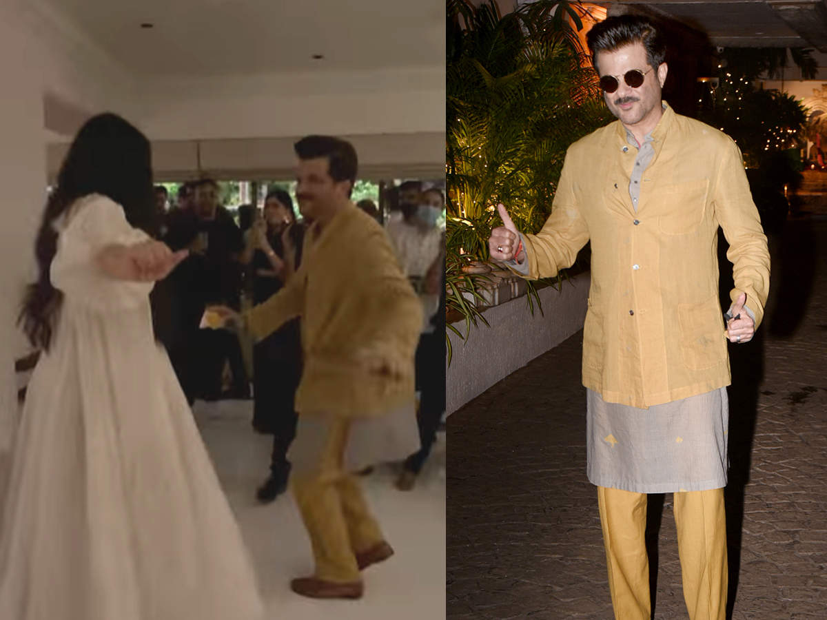 Riya Kapoor dancing with Pappa Anil Kapoor: New bride Riya Kapoor dances with Pappa Anil Kapoor at her wedding party